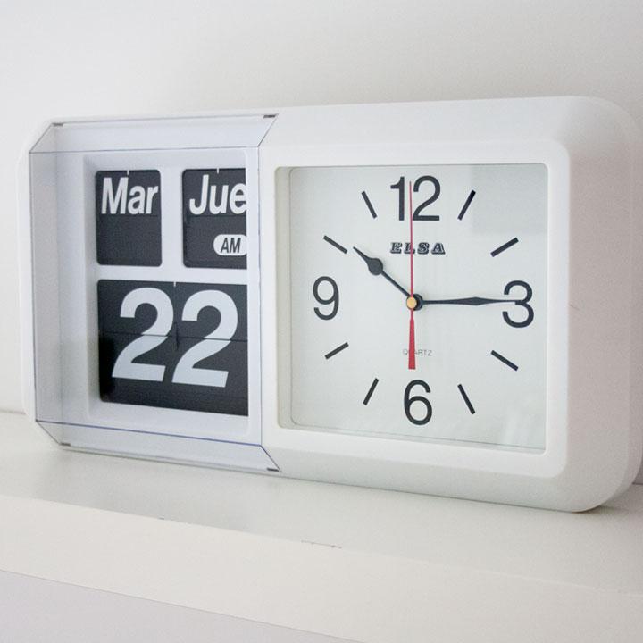 Reloj-calendario FLIP de pared