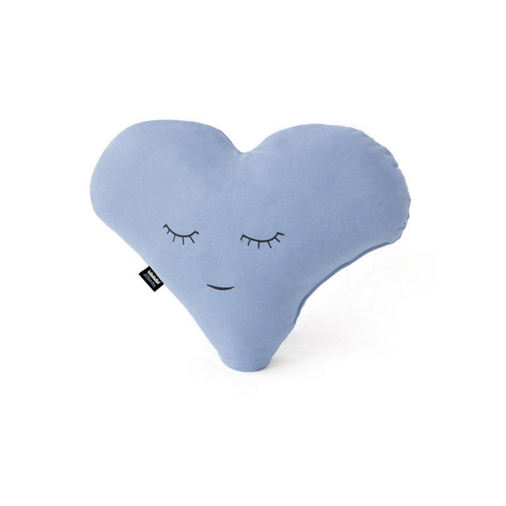 Cojín Corazón Azul Celeste Pequeño