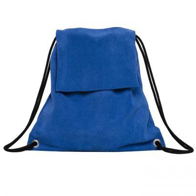 Bolso Mochila Ante Azul