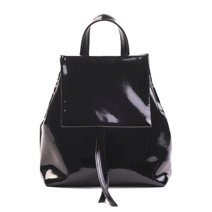 tan baratas lindos zapatos precio atractivo Mini BOO Backpack Charol Black