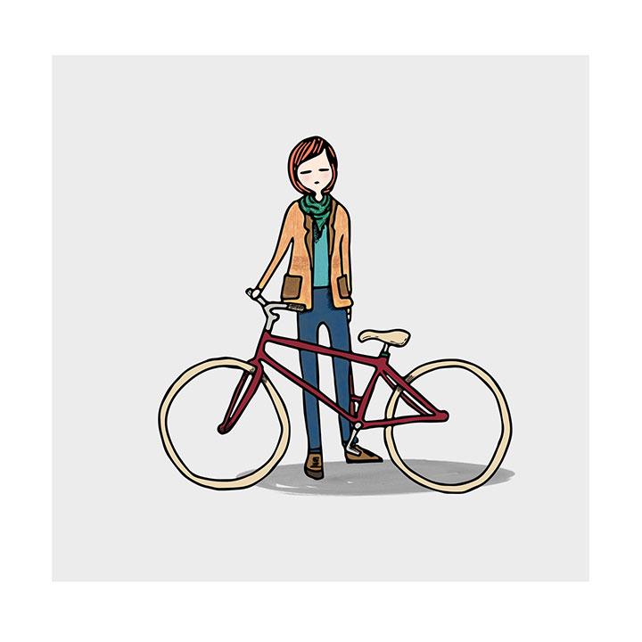 Lámina Enmarcada Bike