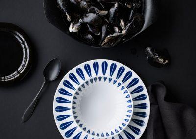 Set 6 Platos Grandes Loto Azul - Arne Clausen