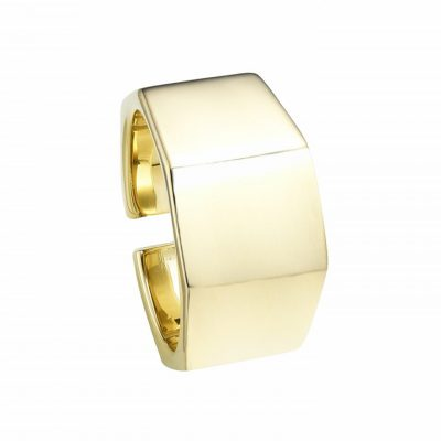 Hexagone Golden Open Ring