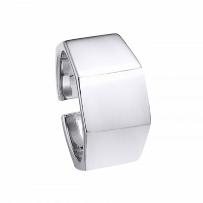 Hexagone Silver Open Ring