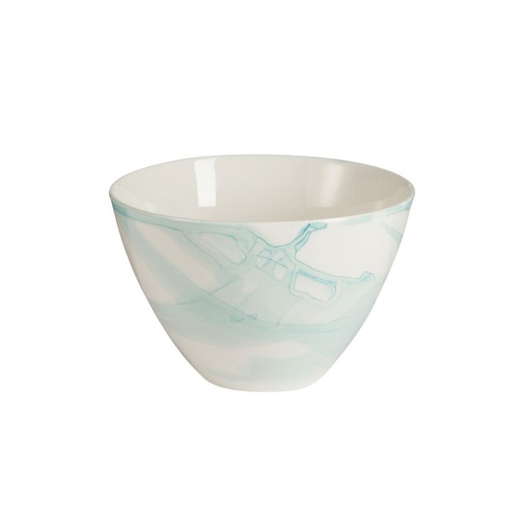6 Bowls Watercolor Blue