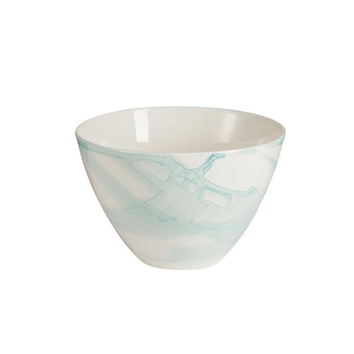 Set 6 boles Acuarela Azul Porcelana