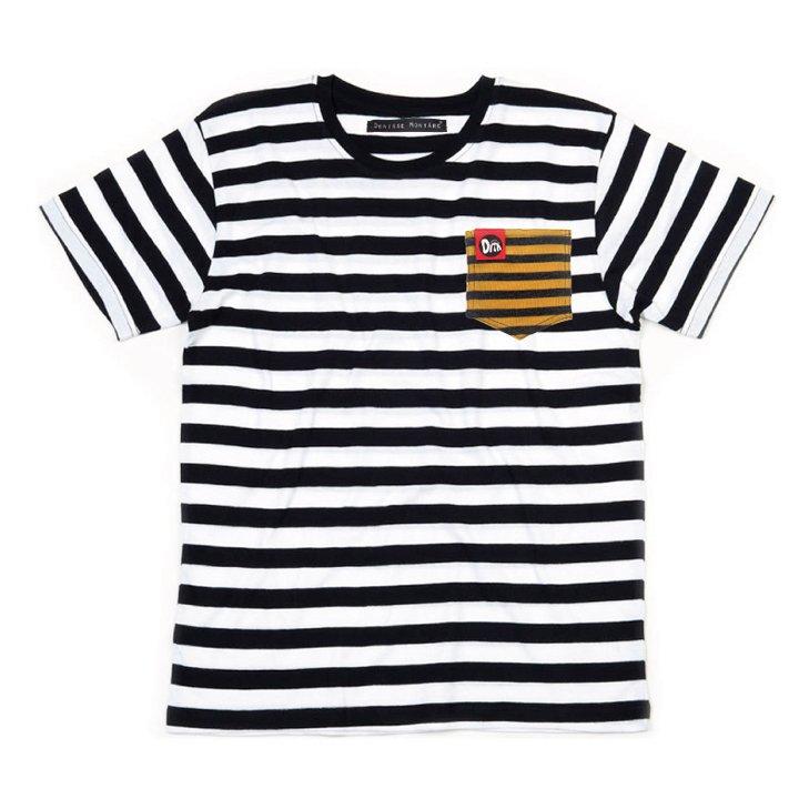 Camiseta Bolsillo Rayas Amarillo Denisse Montáre
