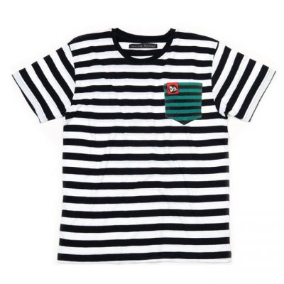 Green Striped Pocket T- Shirt Denisse Montáre