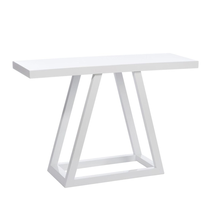 Consola Diagonal Madera lacada blanca