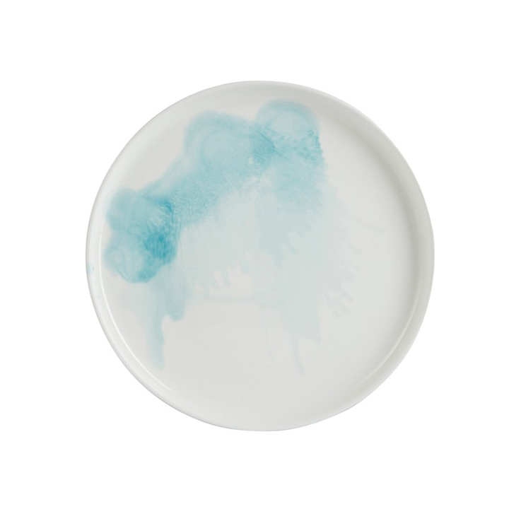 Medium Plates Watercolor Blue