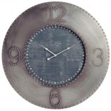 Reloj de pared Industrial Gris Negro