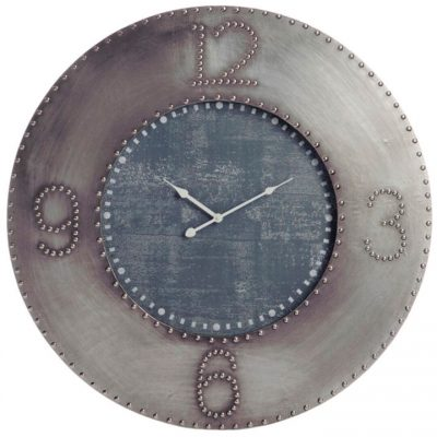 Reloj de pared Industrial Gris Negro