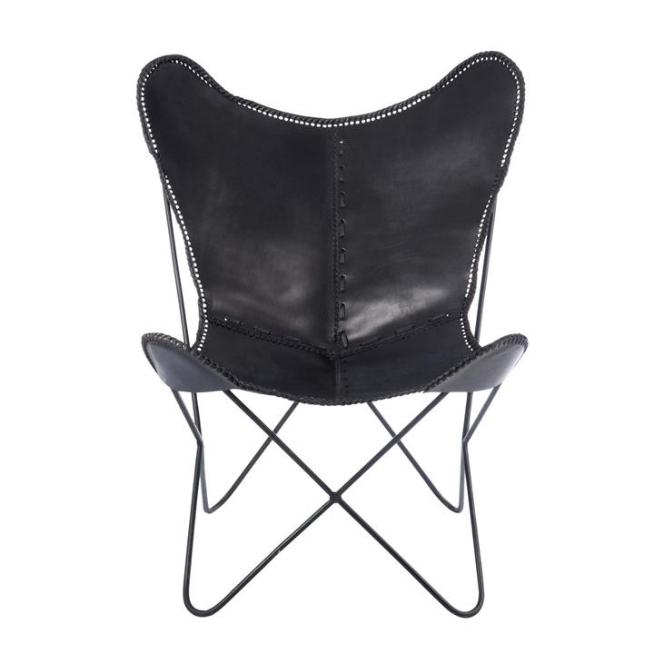 Butaca LOUNGE Cuero Negro | Muebles | Gourmandise Concept Market