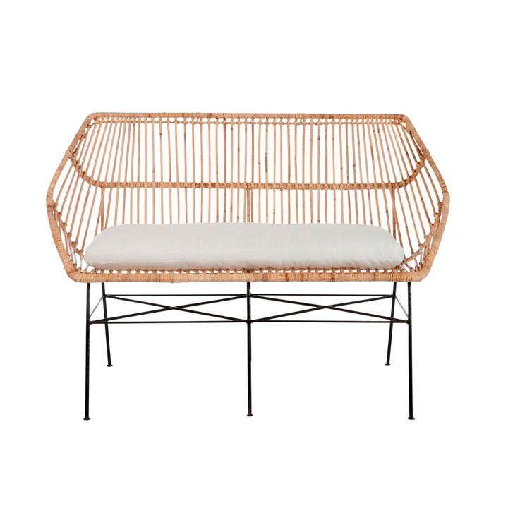 Banco terraza mimbre muebles gourmandise concept market for Banco para terraza