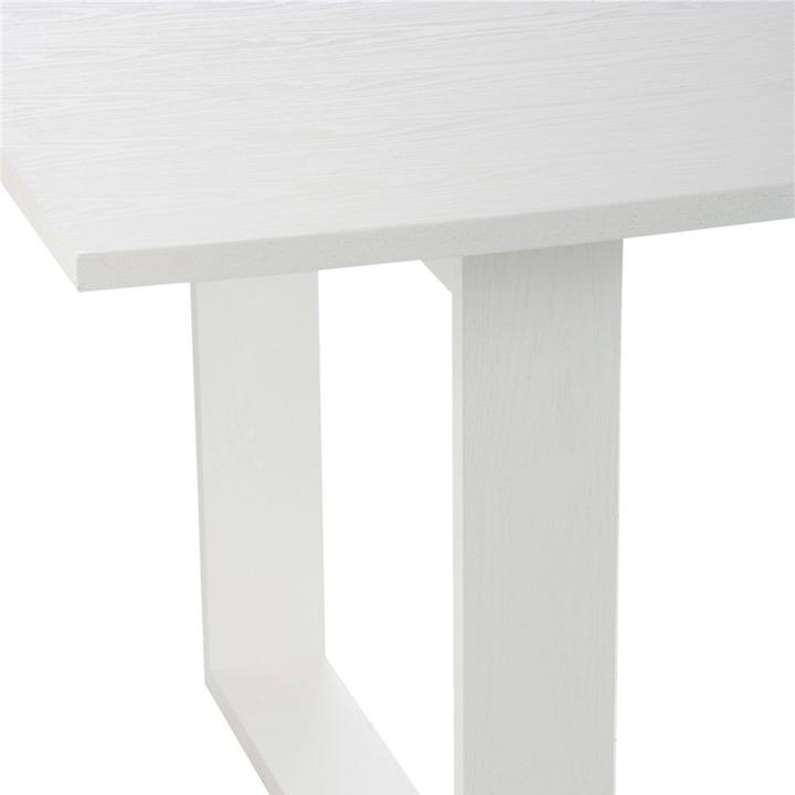 Mesa comedor rectangular madera blanca gourmandise for Mesas de comedor madera blanca