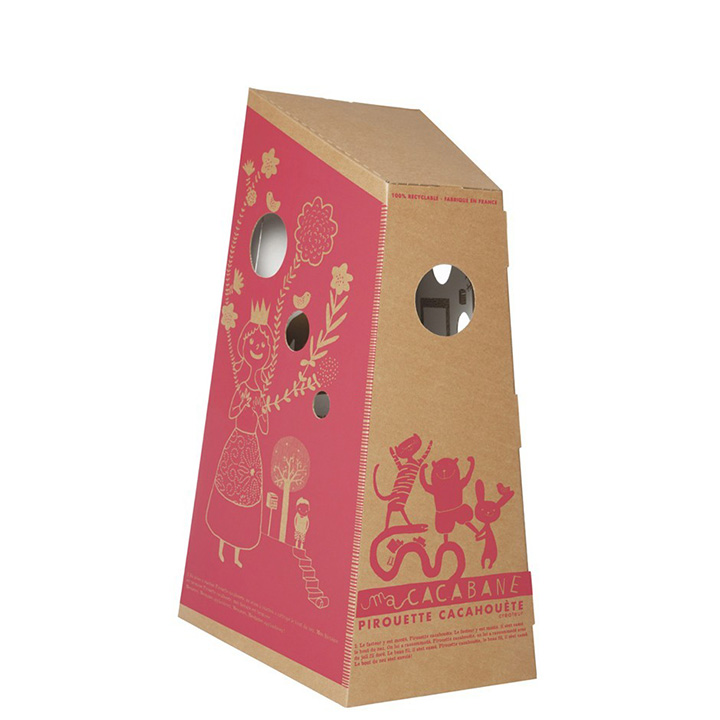 Ma CACABANE Red - Cardboard House for kids