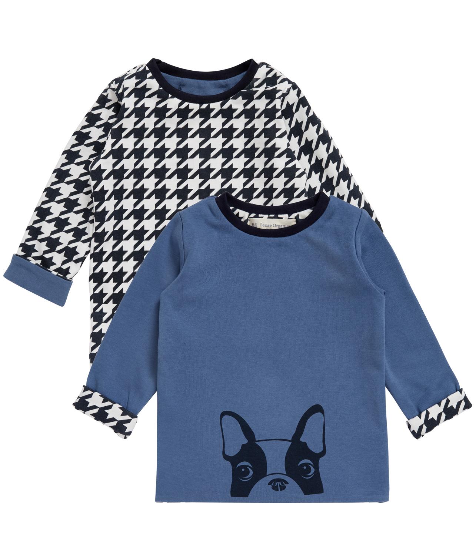 Camiseta Reversible Bebé Felix Azul