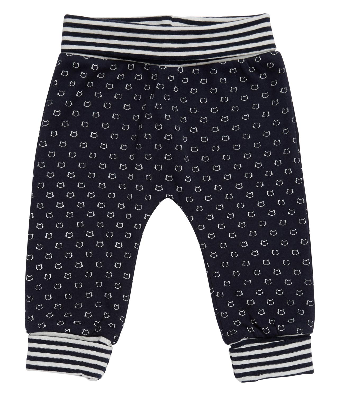Pantalon Bebé azul marino con estampado gatitos Sjors