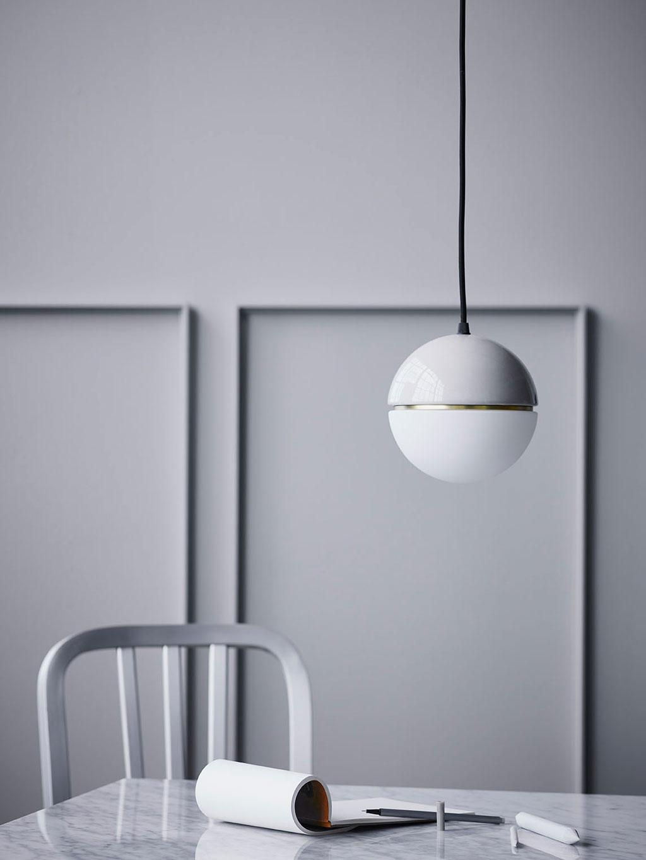 Lámpara de Techo Macaroon Gris Claro