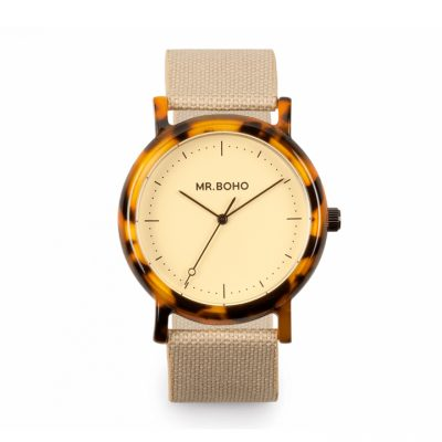 White Flecked Acetate Watch Mr. BOHO