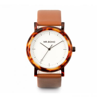 Reloj White Walnut Acetate Mr. Boho