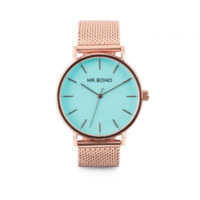 Reloj Aqua Blue Metallic - Mr. BOHO