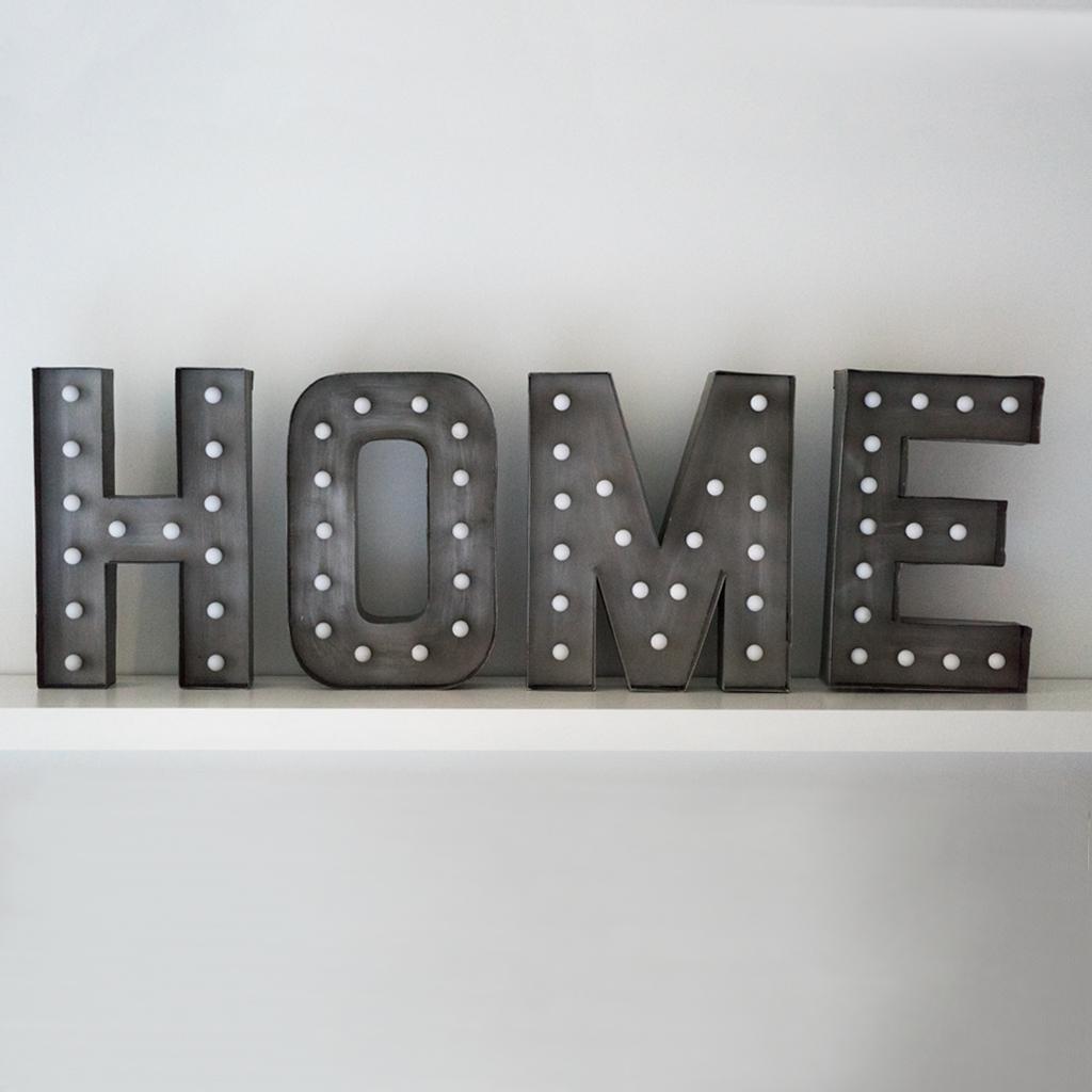 Cartel home letras led deco gourmandise concept market - Letras home decoracion ...