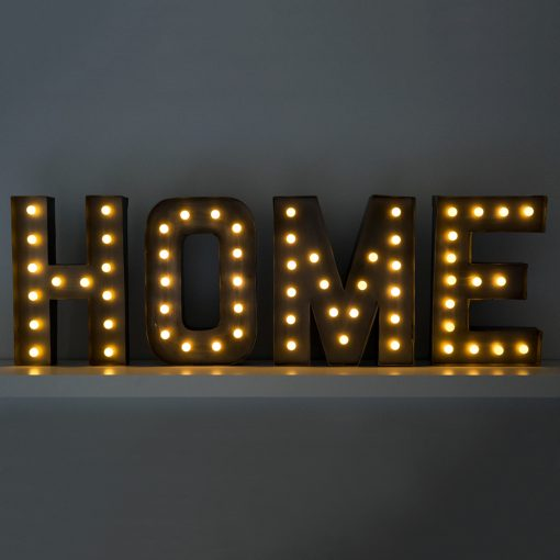 Cartel HOME Letras LED