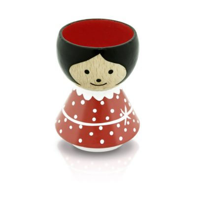 BORDFOLK Egg Cup Girl Red