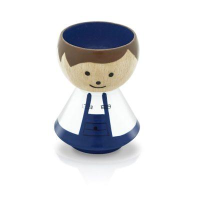 BORDFOLK Egg Cup Boy Blue Stripes