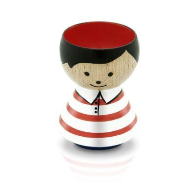 BORDFOLK Egg Cup Boy Red Stripes