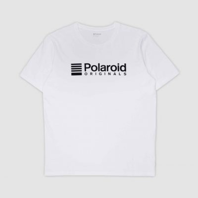 Polaroid Originals White Black Logo T-Shirt