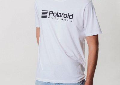Camiseta Polaroid Originals Blanca Logo Negro