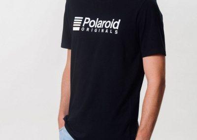 Polaroid Originals Black T-Shirt Logo White