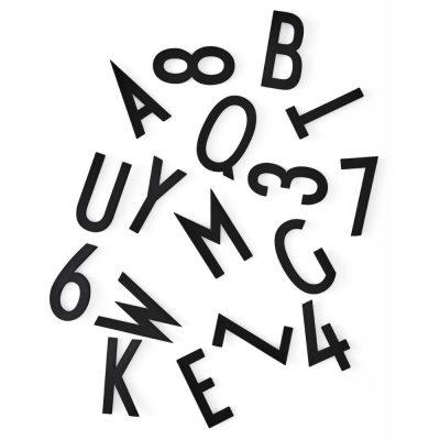 Caja de 159 letras grandes negras para tablero de mensajes