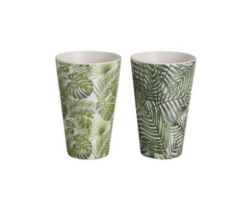6 vasos Tropical Bambú Verde